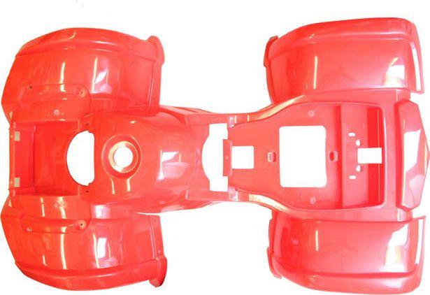 Plastic Set - 50cc to 125cc ATV, Red, Utility Style