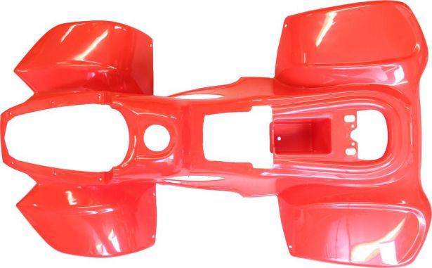 Plastic Set - 50cc to 125cc ATV, Red, Racing Style