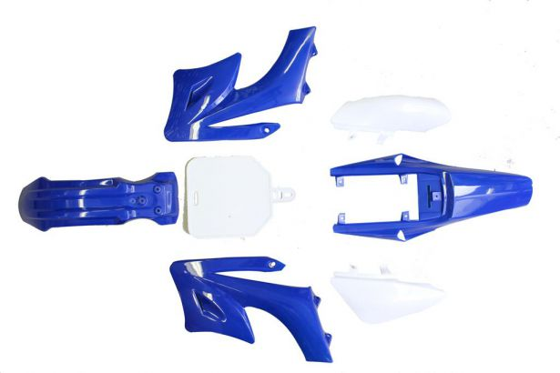 Plastic Set - 50cc to 150cc, Dirt Bike, Blue (7pcs)
