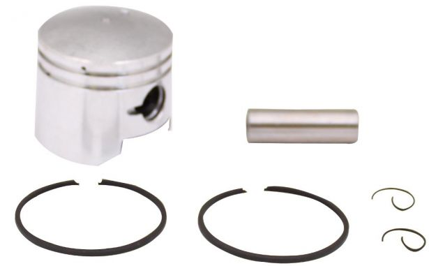 Piston and Ring Set - 49cc, 44mm, 12mm (6pcs)