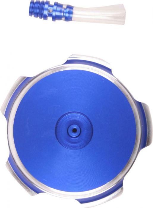 Fuel Tank Cap - Blue, Aluminum
