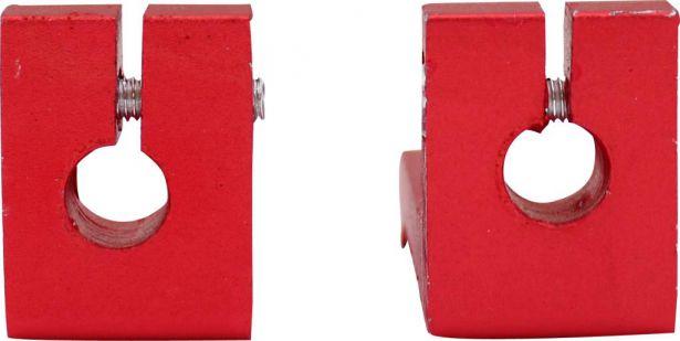 Foot Pegs - Red, Dirt Bike, CNC, (2 pc set)