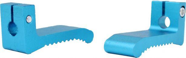 Foot Pegs - Blue, Dirt Bike, CNC, (2 pc set)