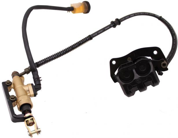 Foot/Rear Brake Lever and Caliper Assembly