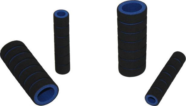 Hand Grips - Foam, Blue, 4pc Set