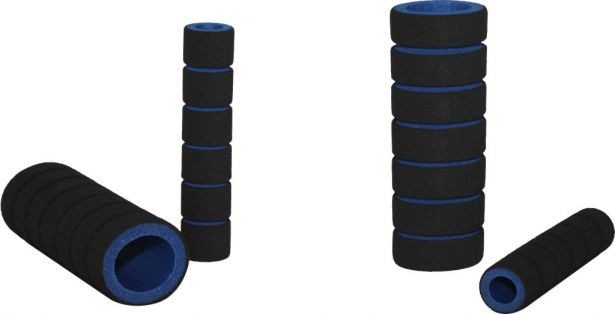 Hand Grips - Foam, Blue, 4pc Set