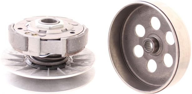 Clutch - Drive Pulley with Clutch Bell, 300cc, 2x4, 4x4 and 4x4 IRS, 16 Spline