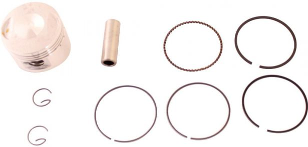 Piston and Ring Set - 125cc, 52.4mm, 14mm (9pcs)