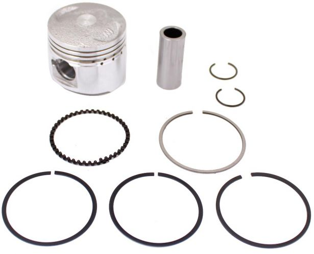 Piston and Ring Set - 50cc, 39mm, 13mm, GY6 (9pcs)