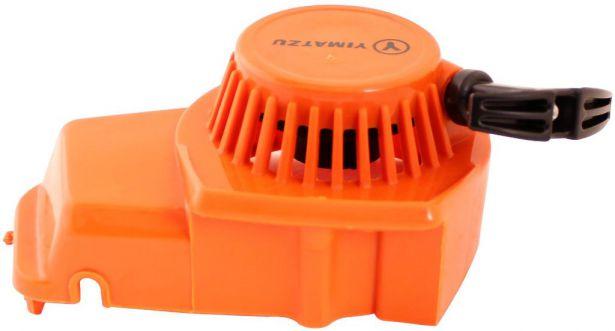 Pull Start - 3 Bolt, Plastic, Yimatzu Brand, Orange
