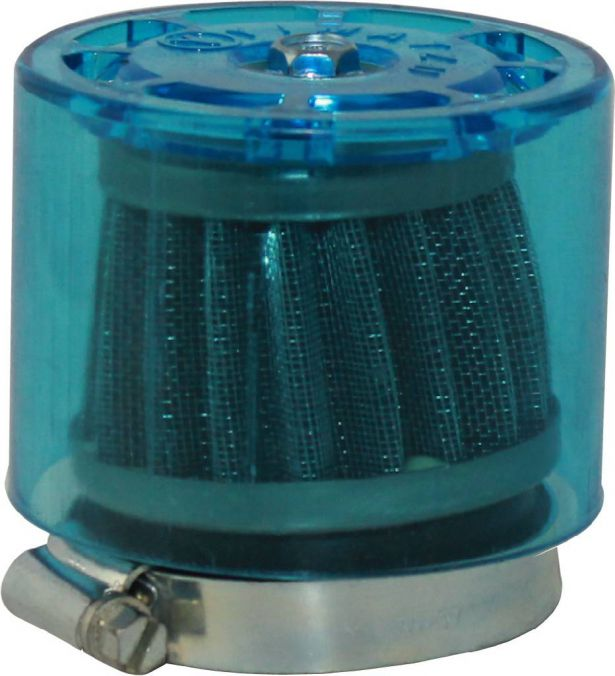 Air Filter - 44mm to 46mm, Conical, Waterproof, Straight, Yimatzu Brand, Blue