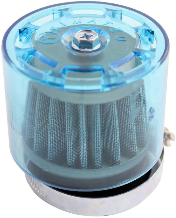 Air Filter - 48mm to 50mm, Conical, Waterproof, Straight, Yimatzu Brand, Blue