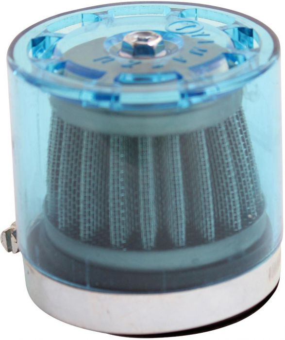 Air Filter - 58mm to 60mm, Conical, Waterproof, Straight, Yimatzu Brand, Blue