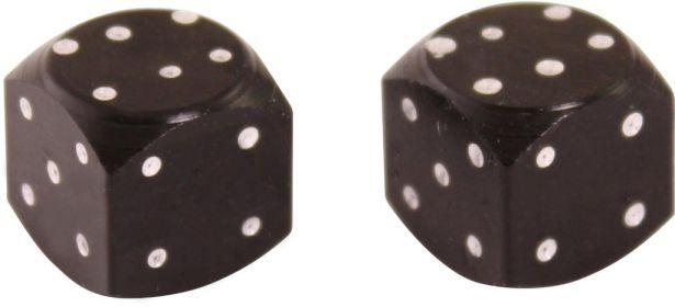Valve Stem Caps - Black Dice