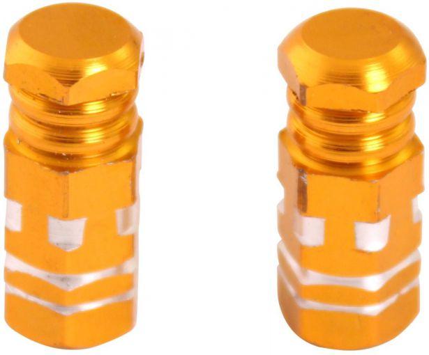 Valve Stem Caps - Gold