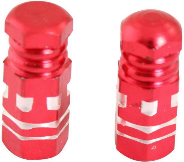Valve Stem Caps - Red