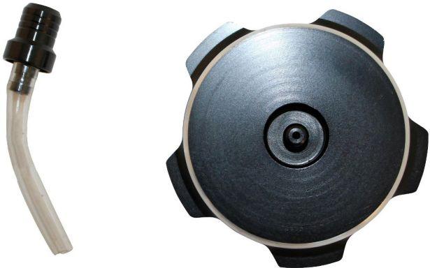 Fuel Tank Cap - Black Aluminum