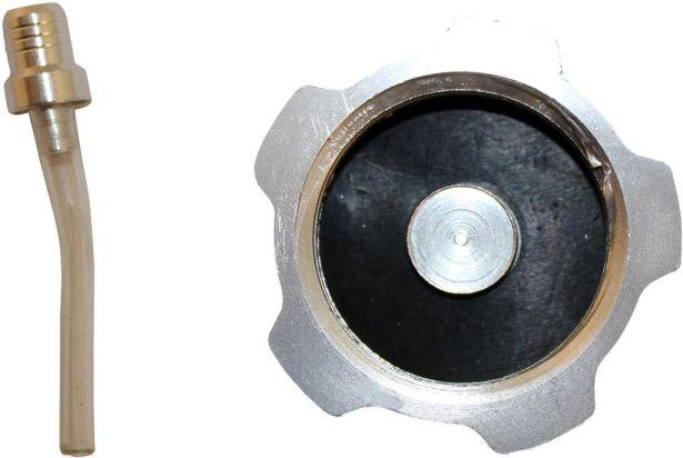 Fuel Tank Cap - Chrome Aluminum
