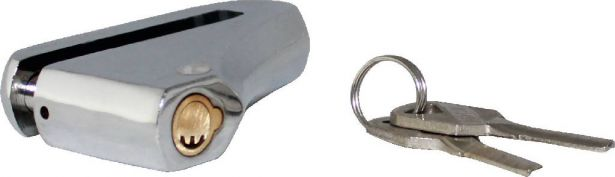 Lock - Brake Disk Lock, Chrome