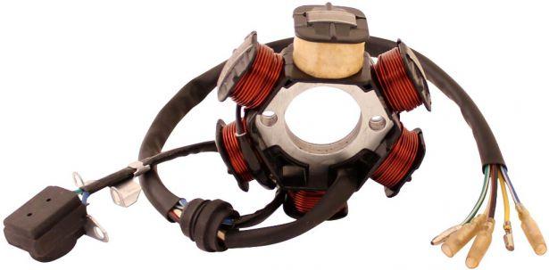 Stator - Magneto Coil, CB6, 5 Wire