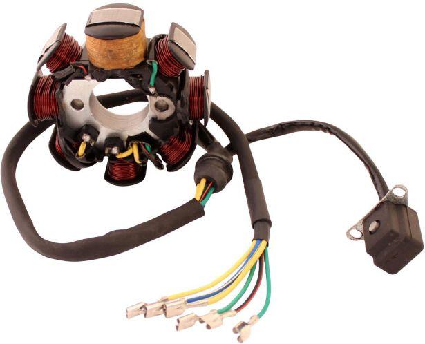 Stator - Magneto Coil, CB8, 6 Wire