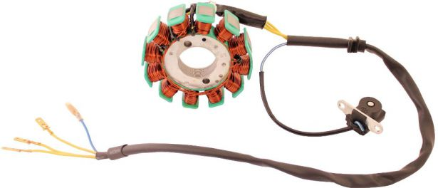 Stator - Magneto Coil, GY6-12, 4 Wire