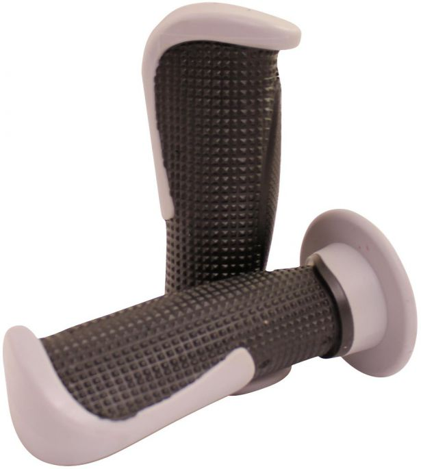 Throttle Grips - Tapered, Gray