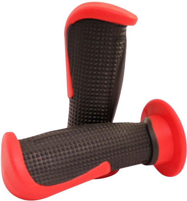 Throttle Grips - Tapered, Red