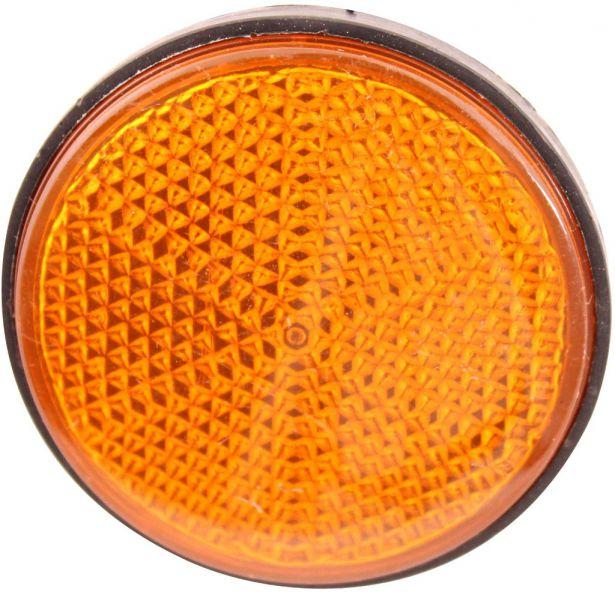 Reflector - Orange with Black Base (2pcs)