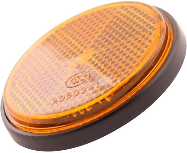 Reflector - Orange with Black Base, A-Grade (2pcs)