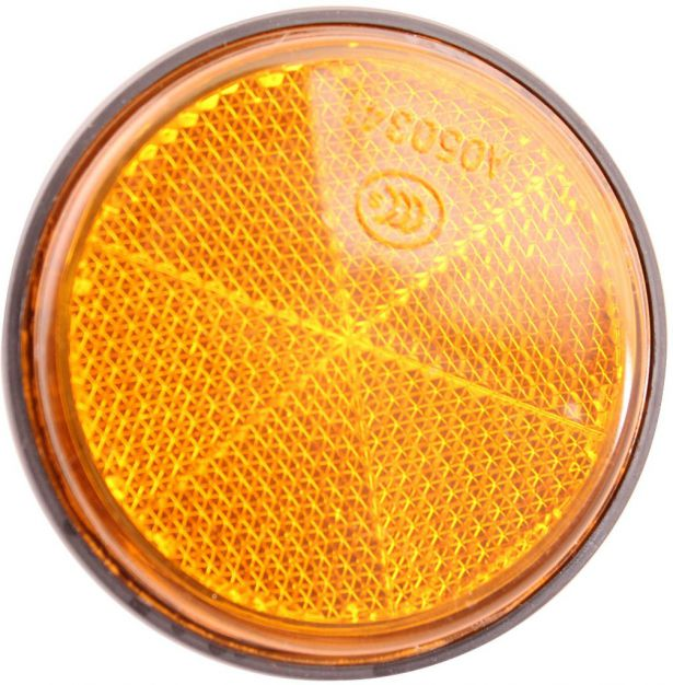 Reflector - Orange with Black Base, A-Grade (2pcs)