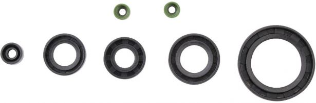 Oil Seal Kit - 125cc to 250cc, WY125, 7pcs, Rubber