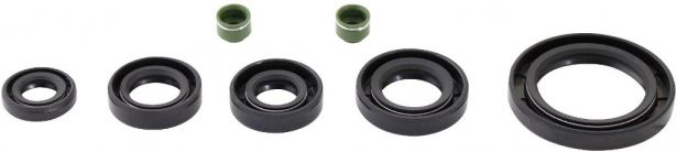 Oil Seal Kit - 125cc, CG125, 7pcs, Rubber