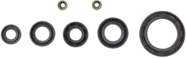Oil Seal Kit - 125cc, CG125, 7pcs, Rubber