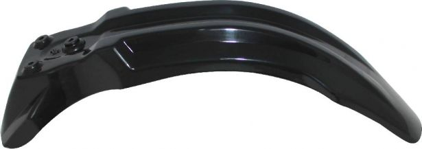 Plastic Fender - Front, 50cc to 150cc, Dirt Bike, Black (1 pc)