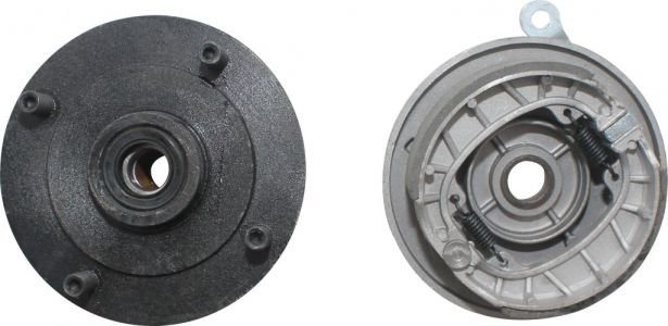 Drum Brake Assembly - 4 Bolt, M10, Right Side