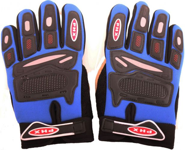 PHX Gloves Motocross, Adult (Blue, Large)