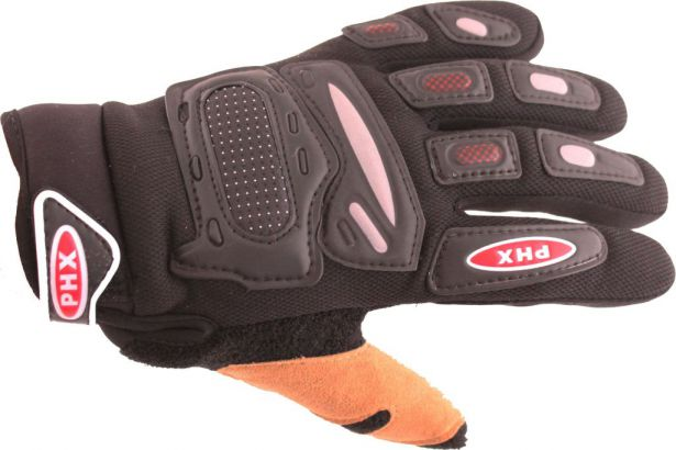 PHX Gloves Motocross, Kids (Black, Small)