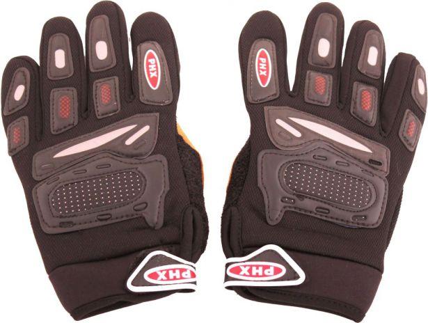 PHX Gloves Motocross, Kids (Black, Medium)