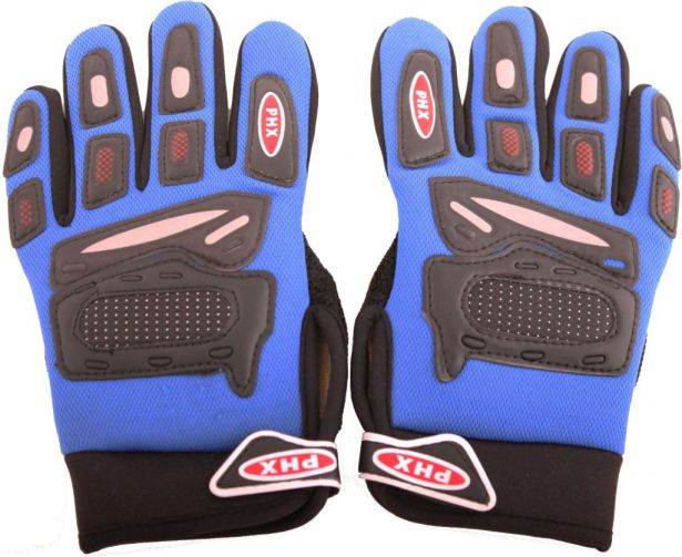 PHX Gloves Motocross, Kids (Blue, Small)
