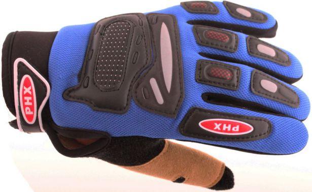 PHX Gloves Motocross, Kids (Blue, Small)