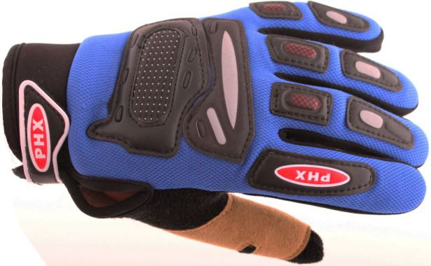 PHX Gloves Motocross, Kids (Blue, Large)