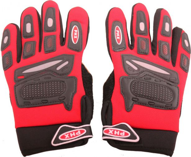 PHX Gloves Motocross, Kids (Red, Small)