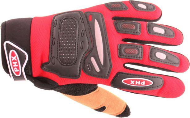 PHX Gloves Motocross, Kids (Red, Small)