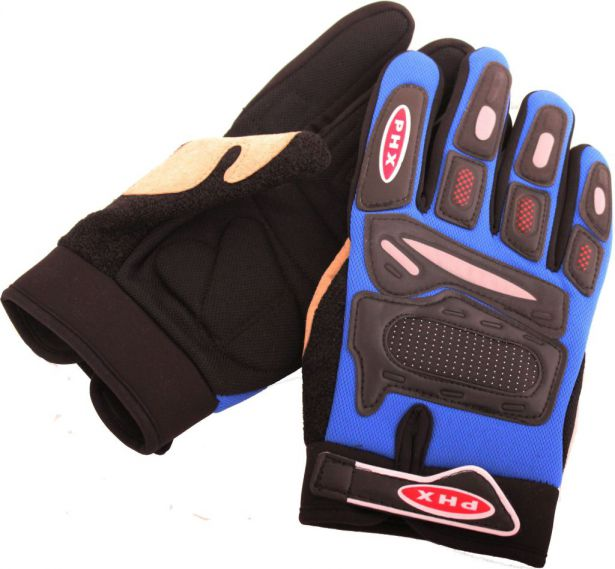 PHX Gloves Motocross, Adult (Blue, Small)
