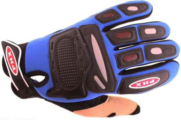 PHX Gloves Motocross, Adult (Blue, Medium)