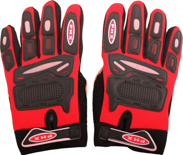 PHX Gloves Motocross, Adult (Red, Small)