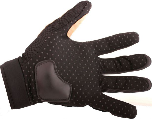 PHX Gloves Motocross, Adult MCS Race Edition (Black, Large)