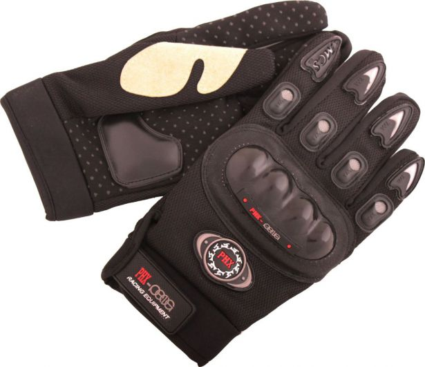 PHX Gloves Motocross, Adult MCS Race Edition (Black, X-Large)