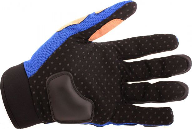 PHX Gloves Motocross, Adult MCS Race Edition (Blue, Large)